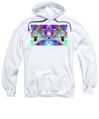 Sweatshirt featuring the digital art Cosmic Spiral Ascension 71 by Derek Gedney