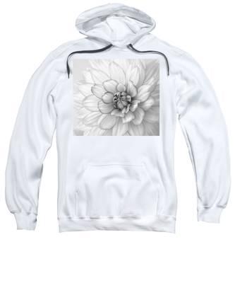 Dahlia Flower Black And White Sweatshirt
