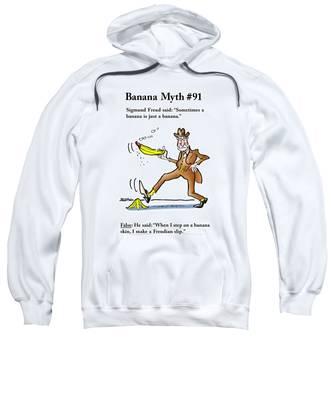 Sweatshirt featuring the digital art Freudian Slip by Mark Armstrong