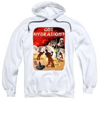 Sweatshirt featuring the digital art Got Hydration? by Mark Armstrong
