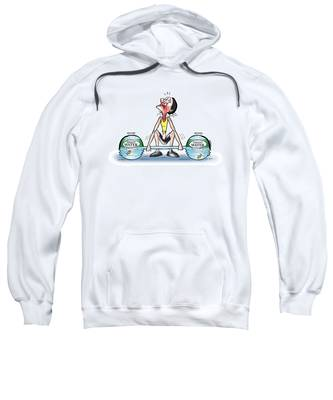 Sweatshirt featuring the digital art Heavy Water by Mark Armstrong