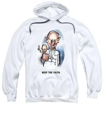 Sweatshirt featuring the digital art Keep The Faith by Mark Armstrong