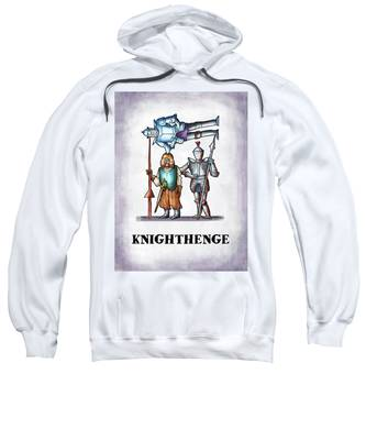 Sweatshirt featuring the digital art Knighthenge by Mark Armstrong