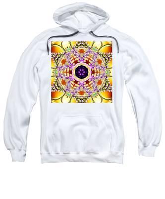 Sweatshirt featuring the digital art Magick Souls by Derek Gedney