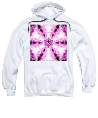 Sweatshirt featuring the digital art Meditation Galaxy 4 by Derek Gedney