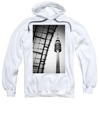 Munich - Olympiaturm And The Roof - Bw Sweatshirt