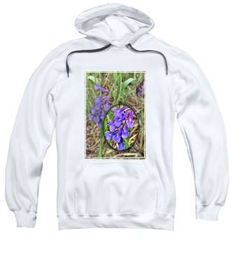 Sweatshirt featuring the photograph Purple Wildflowers by Susan Kinney