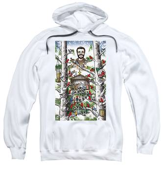 Sweatshirt featuring the digital art St. Francis And The Birds by Mark Armstrong