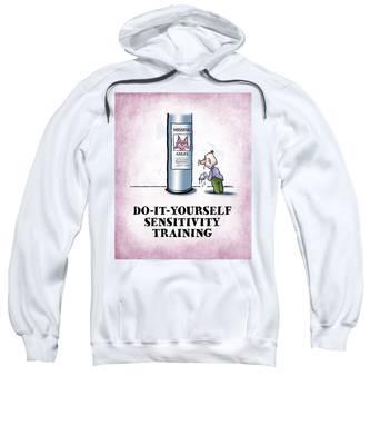 Sweatshirt featuring the digital art Sensitivity Training by Mark Armstrong