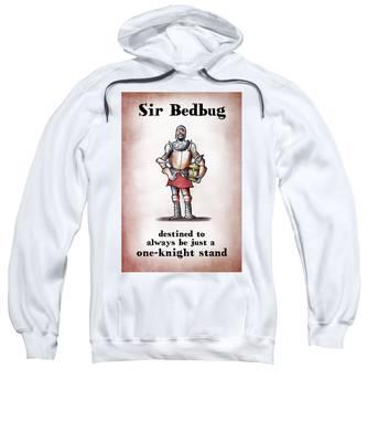 Sweatshirt featuring the digital art Sir Bedbug by Mark Armstrong