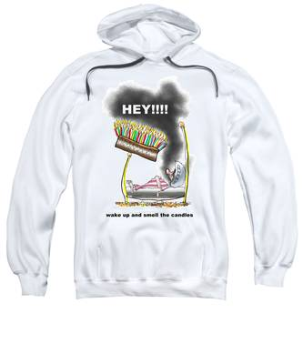 Sweatshirt featuring the digital art Smell The Candles by Mark Armstrong