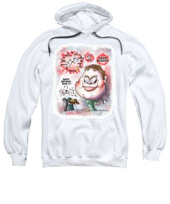 Sweatshirt featuring the digital art Lizzie Borden by Mark Armstrong
