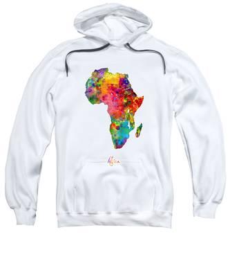 Africa Watercolor Map Sweatshirt