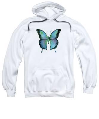 12 Blue Emperor Butterfly Sweatshirt