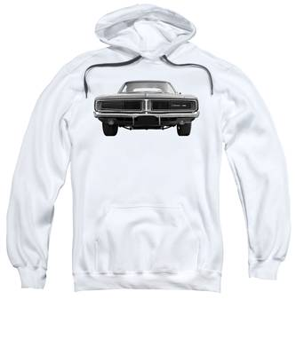 Mens Dodge Charger Black Mask Hoodie Sweater