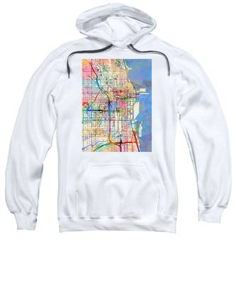 Chicago City Street Map Sweatshirt