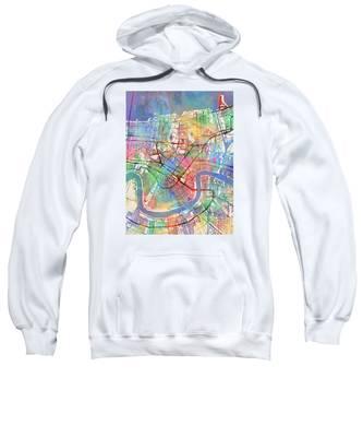 New Orleans Street Map Sweatshirt