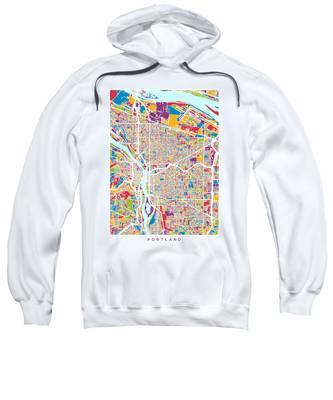 Portland Oregon City Map Sweatshirt