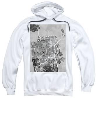 San Francisco City Street Map Sweatshirt