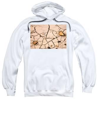 Abstract Mud Flat Pink Saturated Sweatshirt