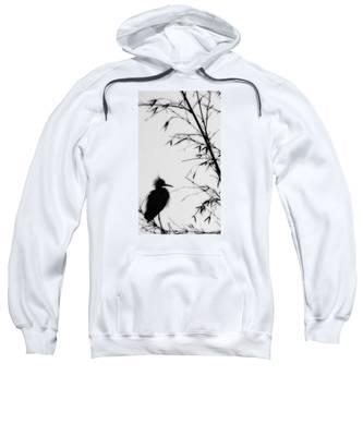 Baby Egret Waits Sweatshirt