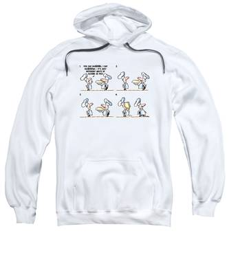 Sweatshirt featuring the digital art Banana Cream Pie by Mark Armstrong