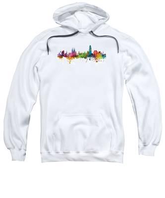 Barcelona Spain Skyline Panoramic Sweatshirt