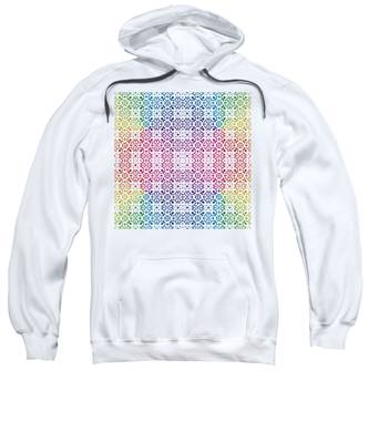 Batik Rainbow 100 - White Sweatshirt
