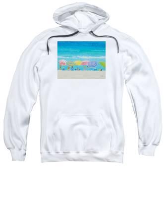 Beach Painting - Color Of Summer Sweatshirt