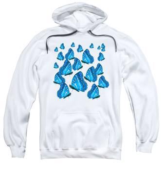 Blue Butterflies Sweatshirt