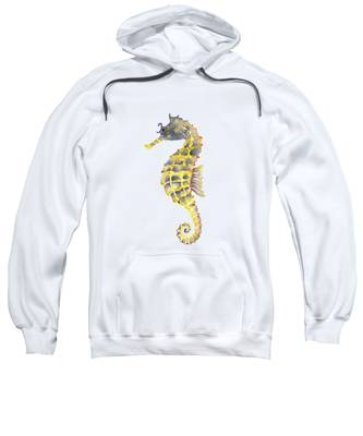 Blue Yellow Seahorse - Square Sweatshirt