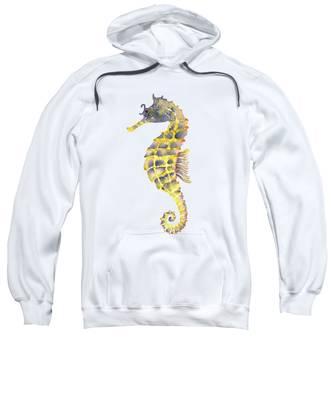 Blue Yellow Seahorse - Vertical Sweatshirt