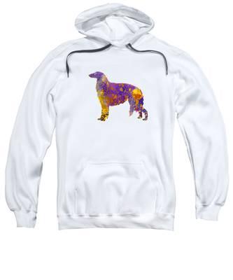 Russian Wolfhound Hooded Sweatshirts T-Shirts