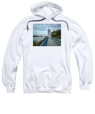 Cheboygan Crib Lighthouse Lake Huron, Lower Peninsula Mi Sweatshirt