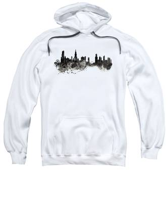 Chicago Black And White Hooded Sweatshirts T-Shirts