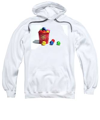 Coloured Baubles In A Pot Sweatshirt