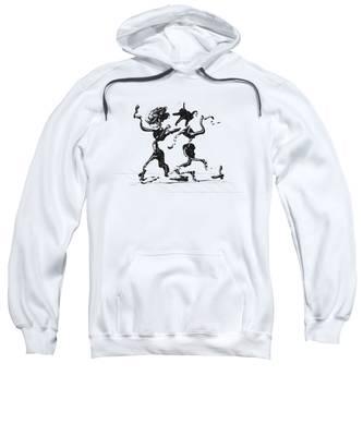 Sweatshirt featuring the digital art Dancing Couple 1 by Manuel Sueess