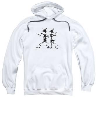 Sweatshirt featuring the digital art Dancing Couple 2 by Manuel Sueess