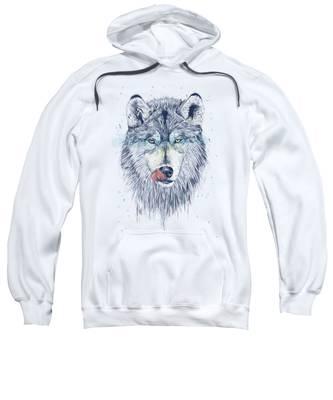 Wolf Hooded Sweatshirts T-Shirts