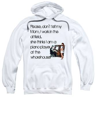Sweatshirt featuring the digital art Don't Tell Mom by Susan Kinney
