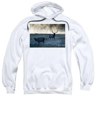 Elk In The Mist Sweatshirt