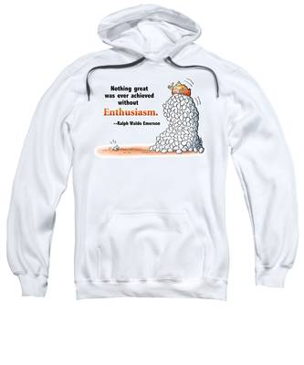Sweatshirt featuring the digital art Embrace Enthusiasm by Mark Armstrong