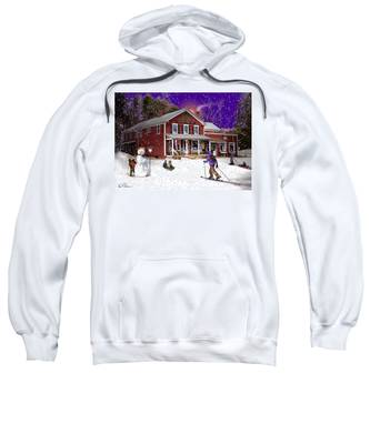 First Snow At The South Woodstock Country Store Sweatshirt