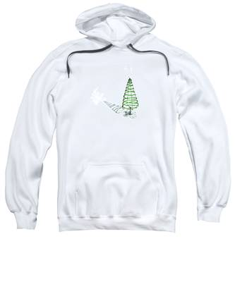 Green Bead Christmas Tree II Sweatshirt