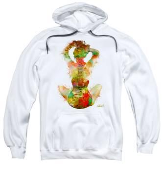 Curved Hooded Sweatshirts T-Shirts