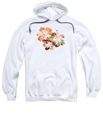 Hawaiian Flower Hooded Sweatshirts T-Shirts
