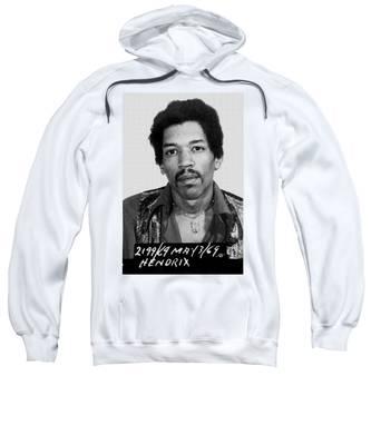 Jimi Hendrix Mug Shot Vertical Sweatshirt