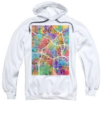 Los Angeles City Street Map Sweatshirt