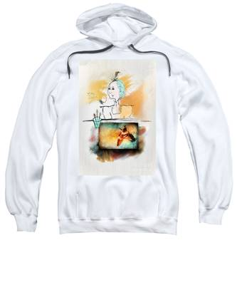 Mrs. Darwin's Theory Of Evolution Self Portrait  Sweatshirt