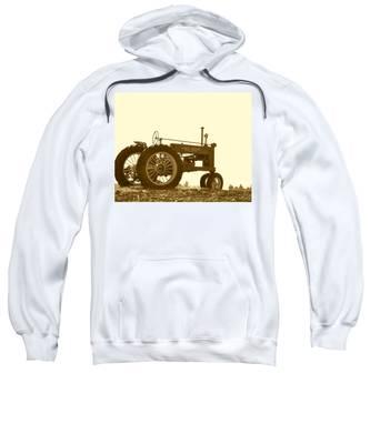 Old Tractor IIi In Sepia Sweatshirt